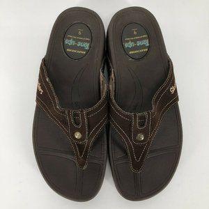 Skechers Womens 9 Tone Ups Sandals Flip Flops